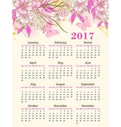 Calendar for 2017 year vector