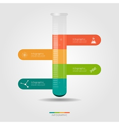 Chemistry bulb infographic for science concept vector