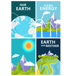 clean energy for mother earth planet protection vector image vector image