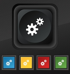 Cog settings cogwheel gear mechanism icon symbol vector