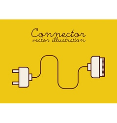 Connection icon vector