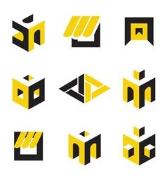 construction logos vector image vector image