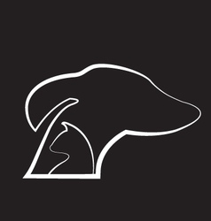 Dog and cat black background logo vector image