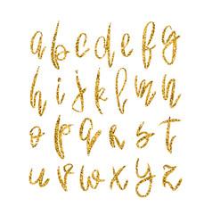 Golden lowercase alphabet vector