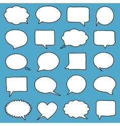 Hand-drawn speech bubbles vector