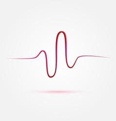 Heart beat cardiogram medical icon vector