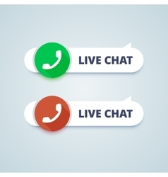 Live chat buttons Online and offline variants vector image