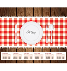 Menu Woode Beckground vector image
