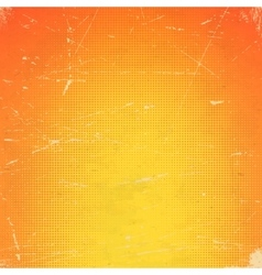 Old orange scratched card with halftone gradient vector image vector image