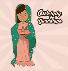 Our lady of guadalupe sacred saint symbol vector