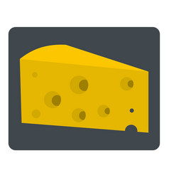 Piece of cheese icon isolated vector