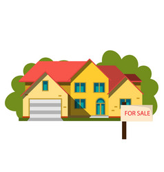 sale house in flat design style vector image