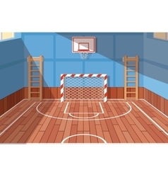 School or university gym hall vector image vector image