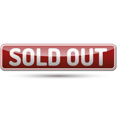 Sold out button vector