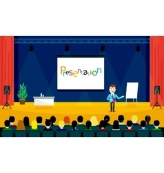 Speaking to the audience concept Public skills vector image vector image
