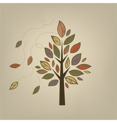 Stylized autumn tree vector