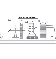 texas houston architecture line skyline vector image