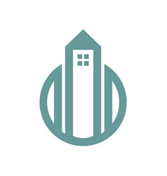 tower housing simple graphic vector image