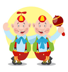tweedledee and tweedledum to the fairy tale vector image vector image
