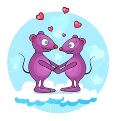 valentine mouse vector image