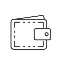 wallet casefinance line icon sign vector image