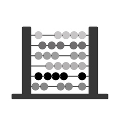 Silhouette abacus with base and spheres vector
