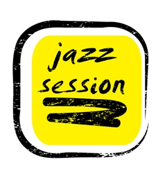 Jazz session stamp vector