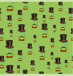Mustaches and accessories seamless pattern vector