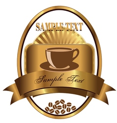 Label for coffee vector