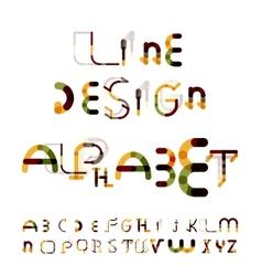 Minimal line design alphabet font typeface vector