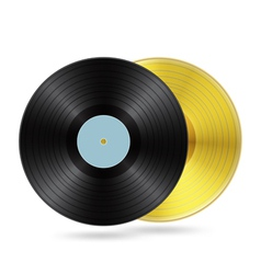two vynil discs vector image