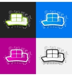 Drawing business formulas ship vector