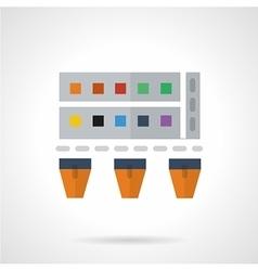 Paints flat color icon vector image