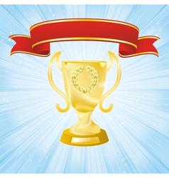 golden cup banner vector image