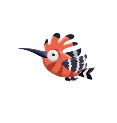 Funny multicolor hoopoe vector