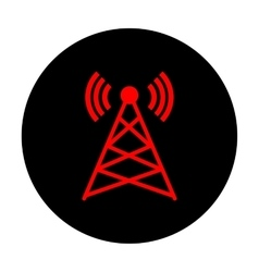 Antenna sign red icon vector