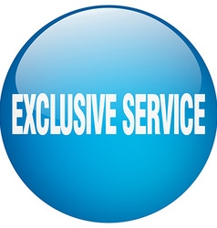 Exclusive service blue round gel isolated push vector