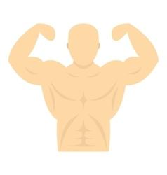 Athlete icon flat style vector