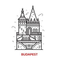 budapest landmark icon vector image vector image