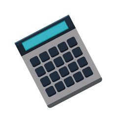calculator icon finances economy concept vector image