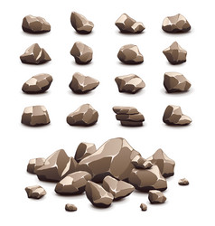 cartoon stones icons set vector image vector image