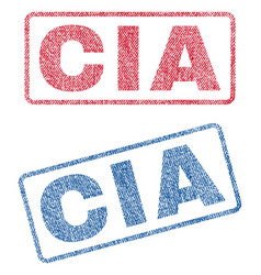 cia textile stamps vector image vector image