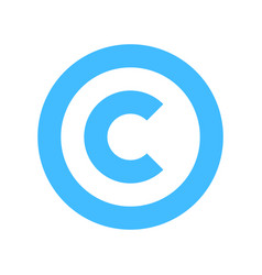 copyright symbol sign flat icon vector image