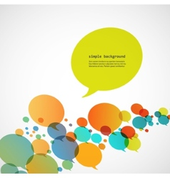 Creative background of colorful speech bubbles eps vector image vector image