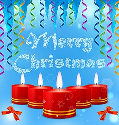 Festive image of burning candles on the background vector image vector image