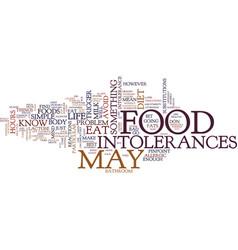 Food intolerances text background word cloud vector