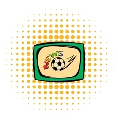 Football news icon comics style vector