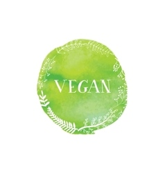 Hand-drawing inscription vegan vector