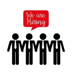hiring workers design vector image vector image
