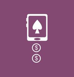 Icon casino online vector